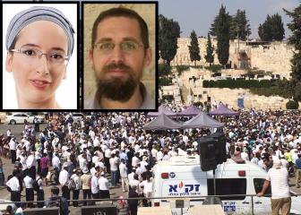 הלווית בני הזוג הנקין שנרצחו בערב שמחת תורה. צילום: אתר גל