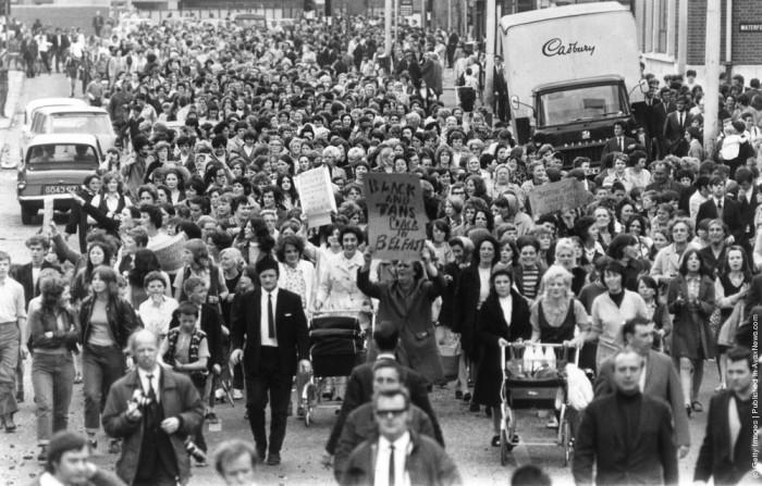 הפגנת נשים נגד מעשי האלימות בצפון אירלנד, 1970